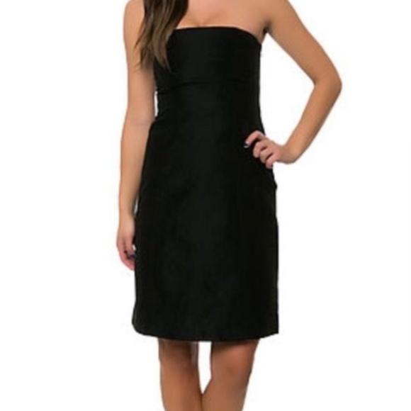 Black Strapless Stretch Dress